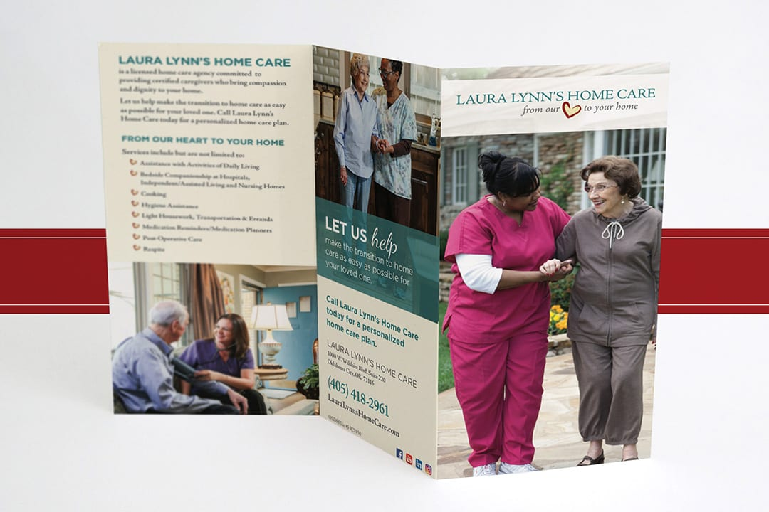 Laura Lynn's Home Care Trifold Brochure Designed by Liquid Media