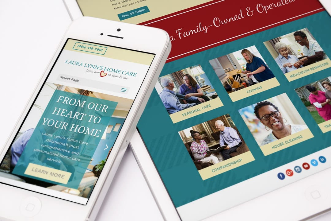Laura Lynn's Home Care Website Designed by Liquid Media