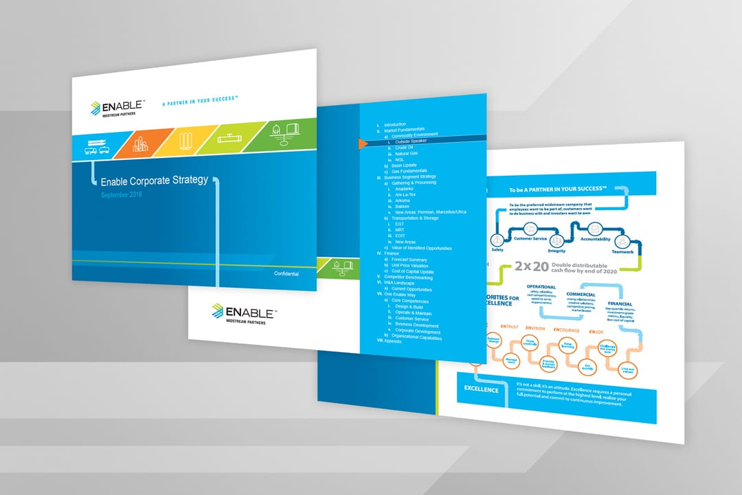 Enable Midstream PowerPoint Design by Liquid Media