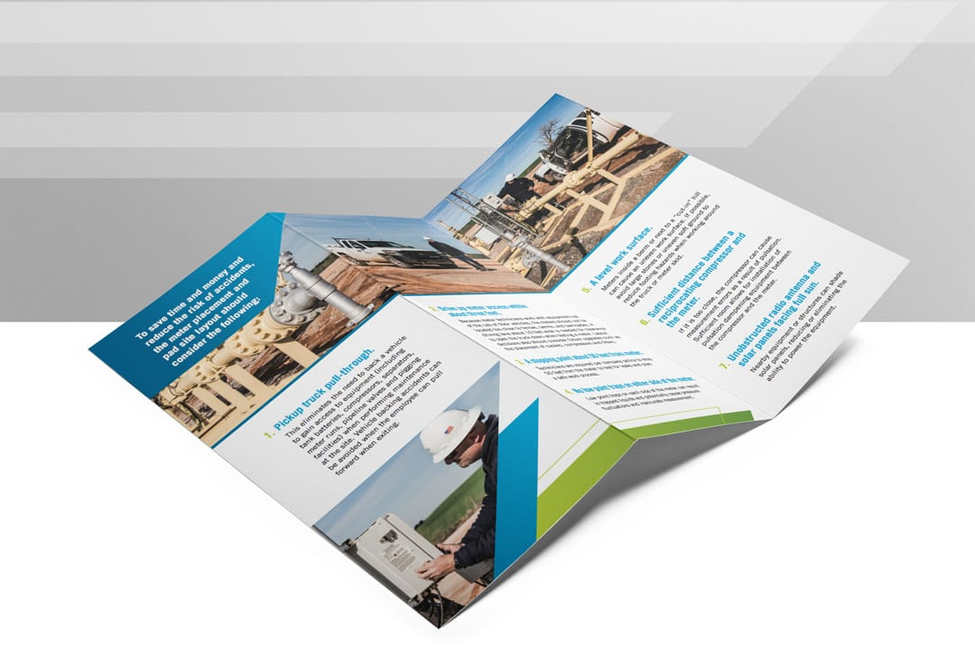 Enable Midstream Trifold Design by Liquid Media