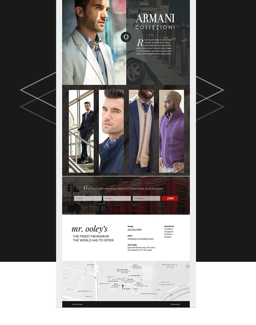 Mr. Ooley's Website Design by Liquid Media
