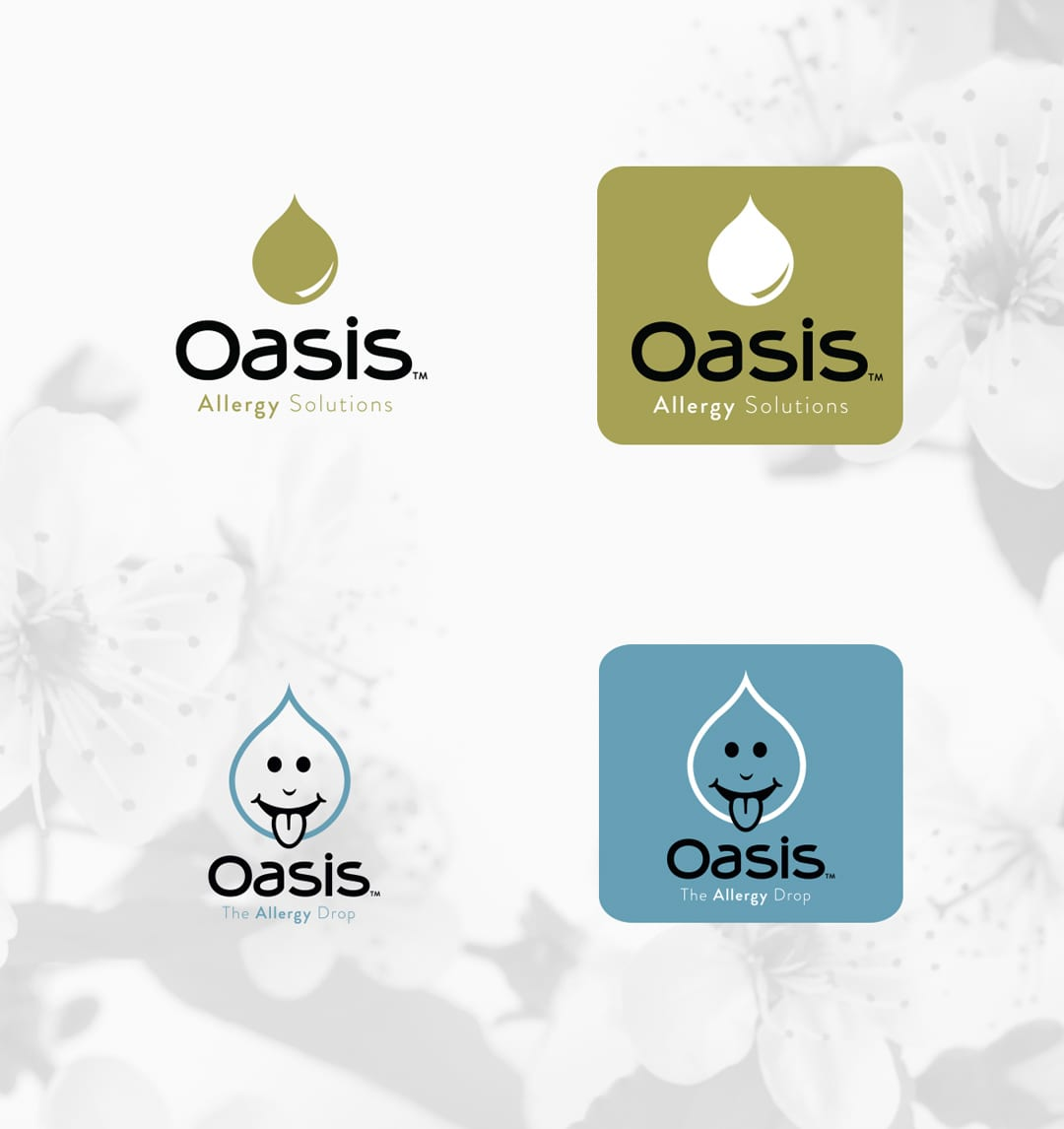 Oasis Allergy Logo Design by Liquid Media