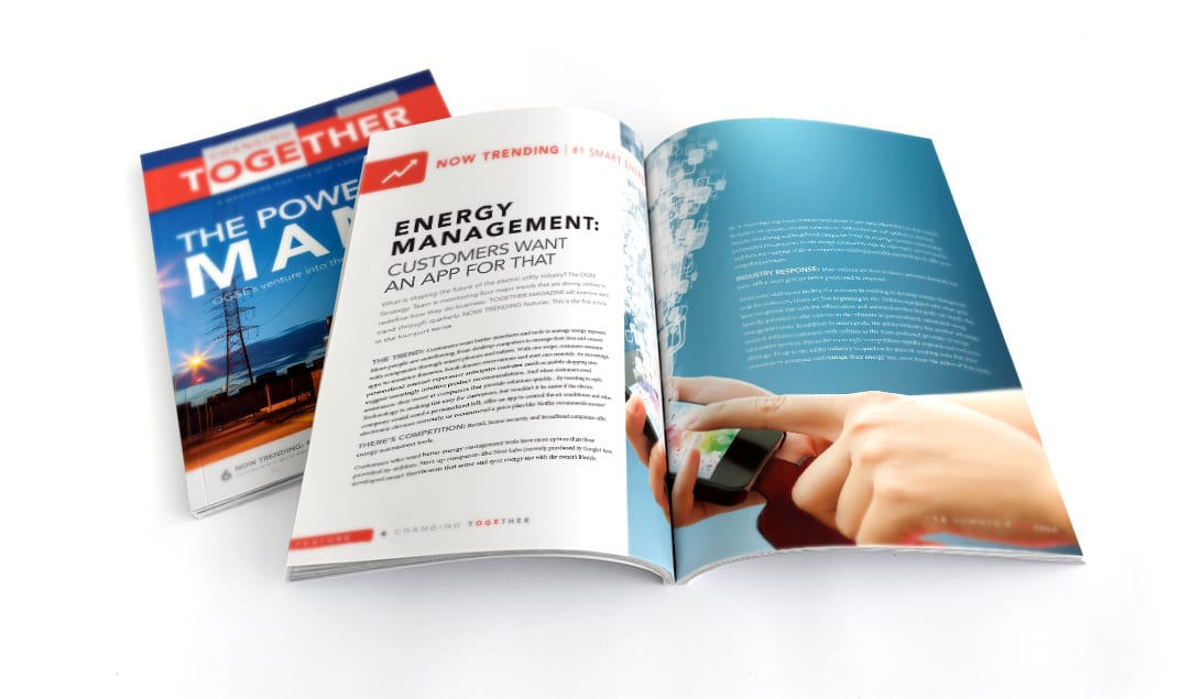 OGE Energy Together Magazine Design by Liquid Media