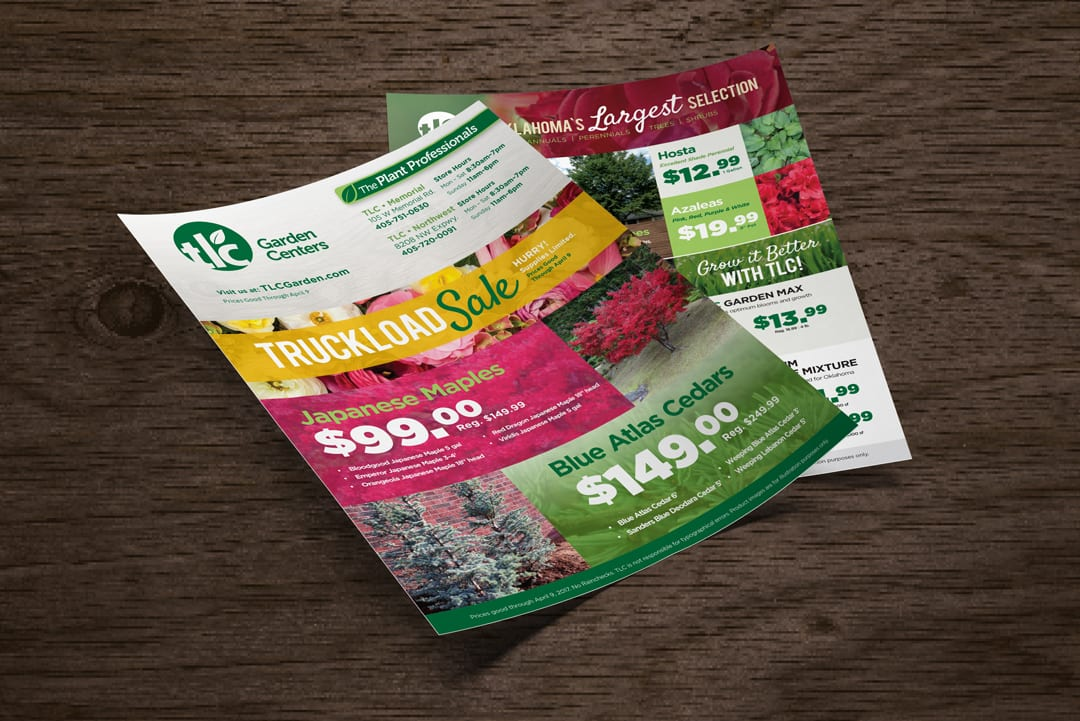 TLC Garden Centers Newspaper Insert Design by Liquid Media