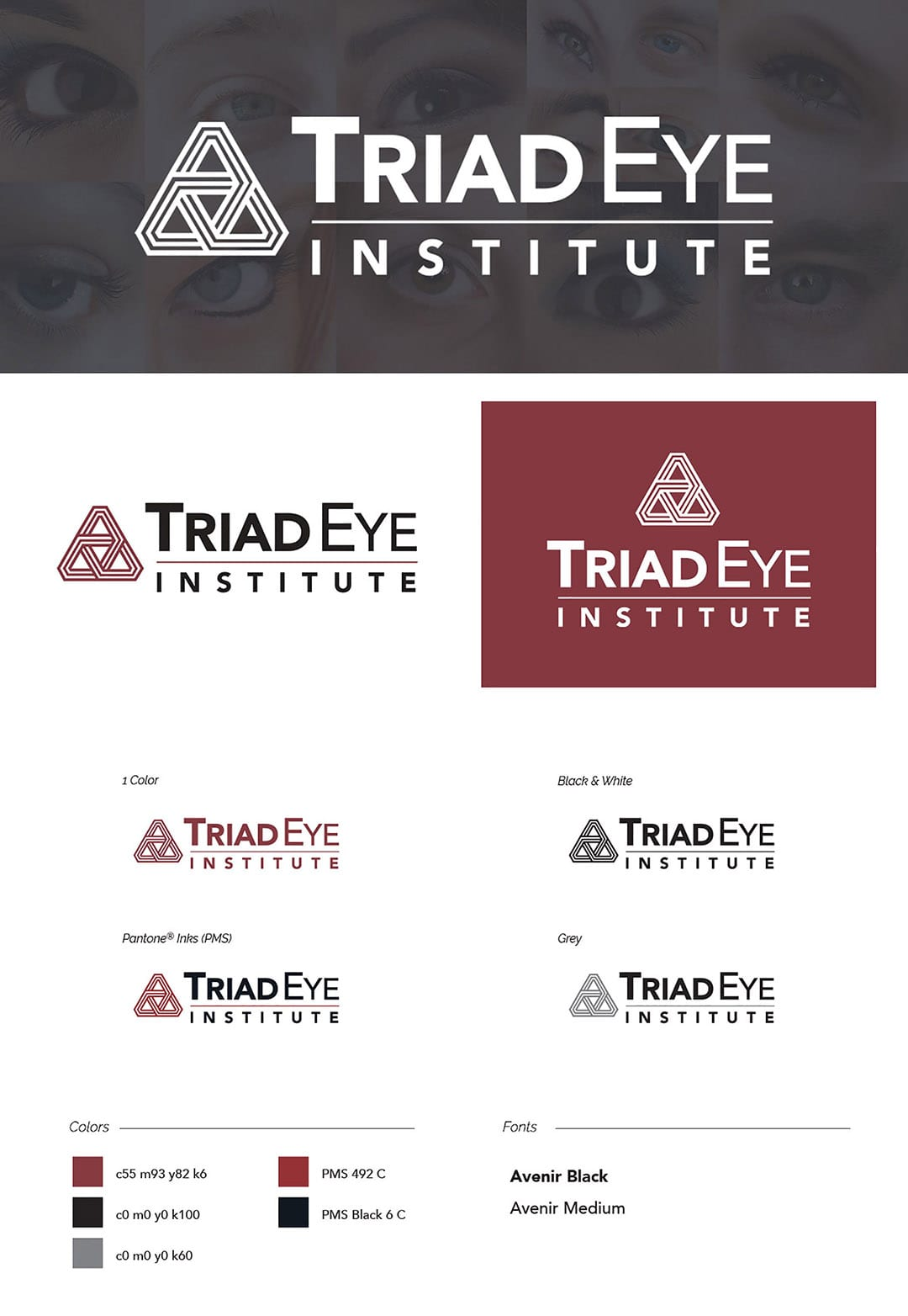 Triad Eye Institute Logo Design by Liquid Media