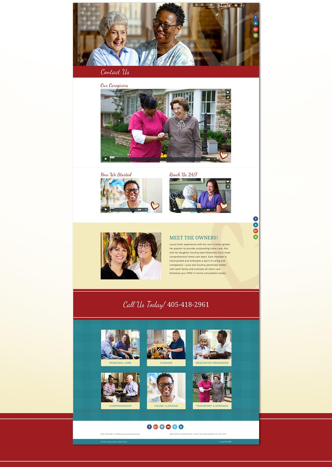 Liquid Media Web Design | Laura Lynn's Home Care