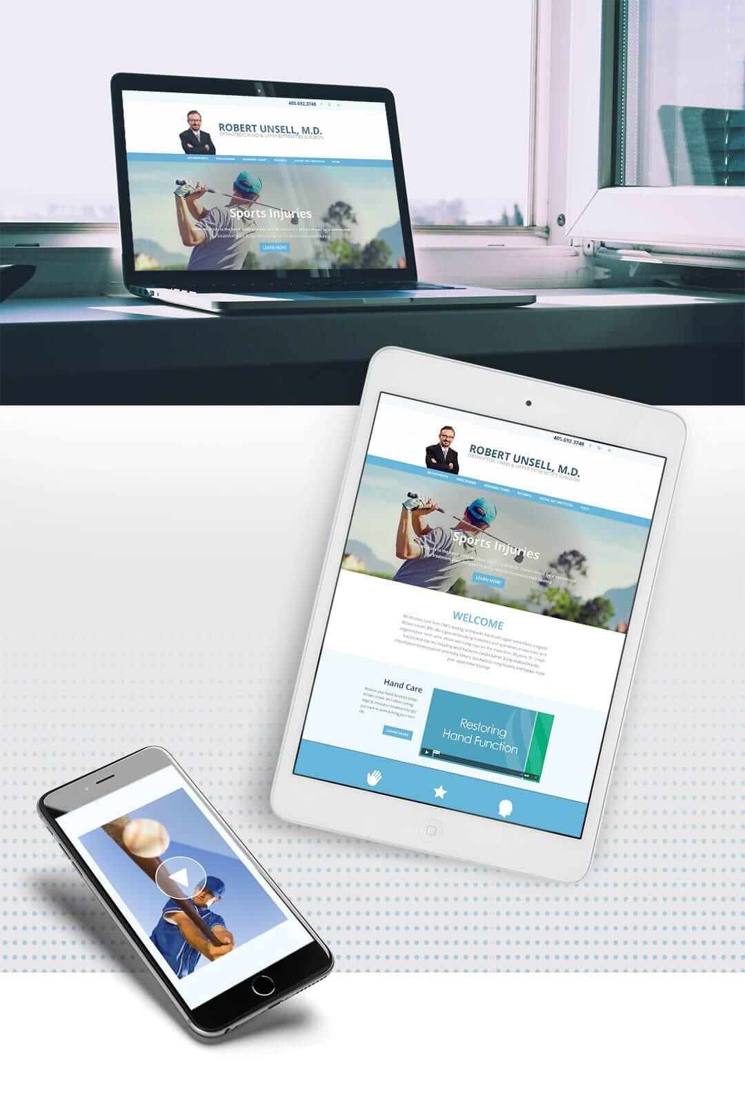 Liquid Media Website Design | Robert Unsell MD