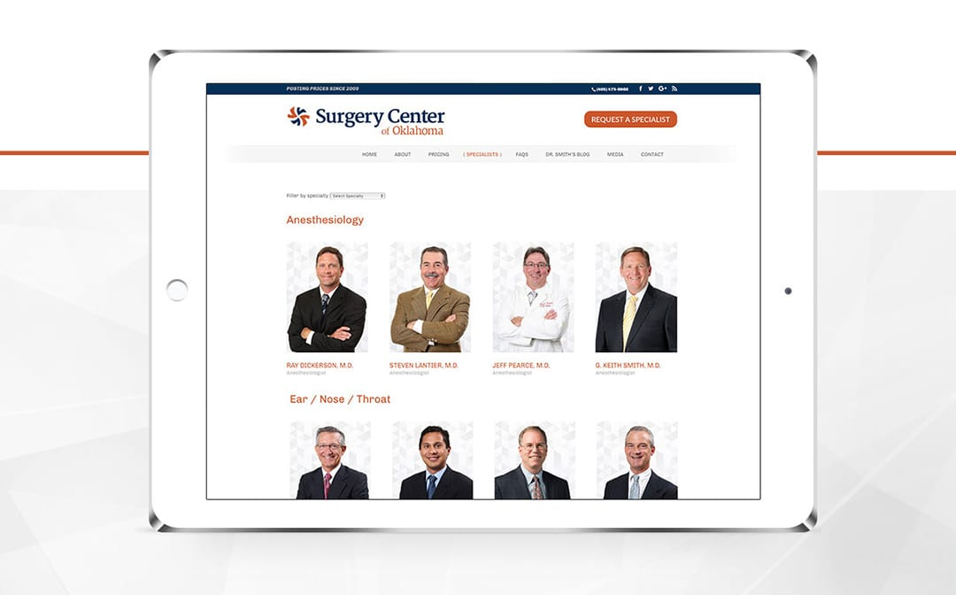 Liquid Media Website Design | Surgery Center of Oklahoma