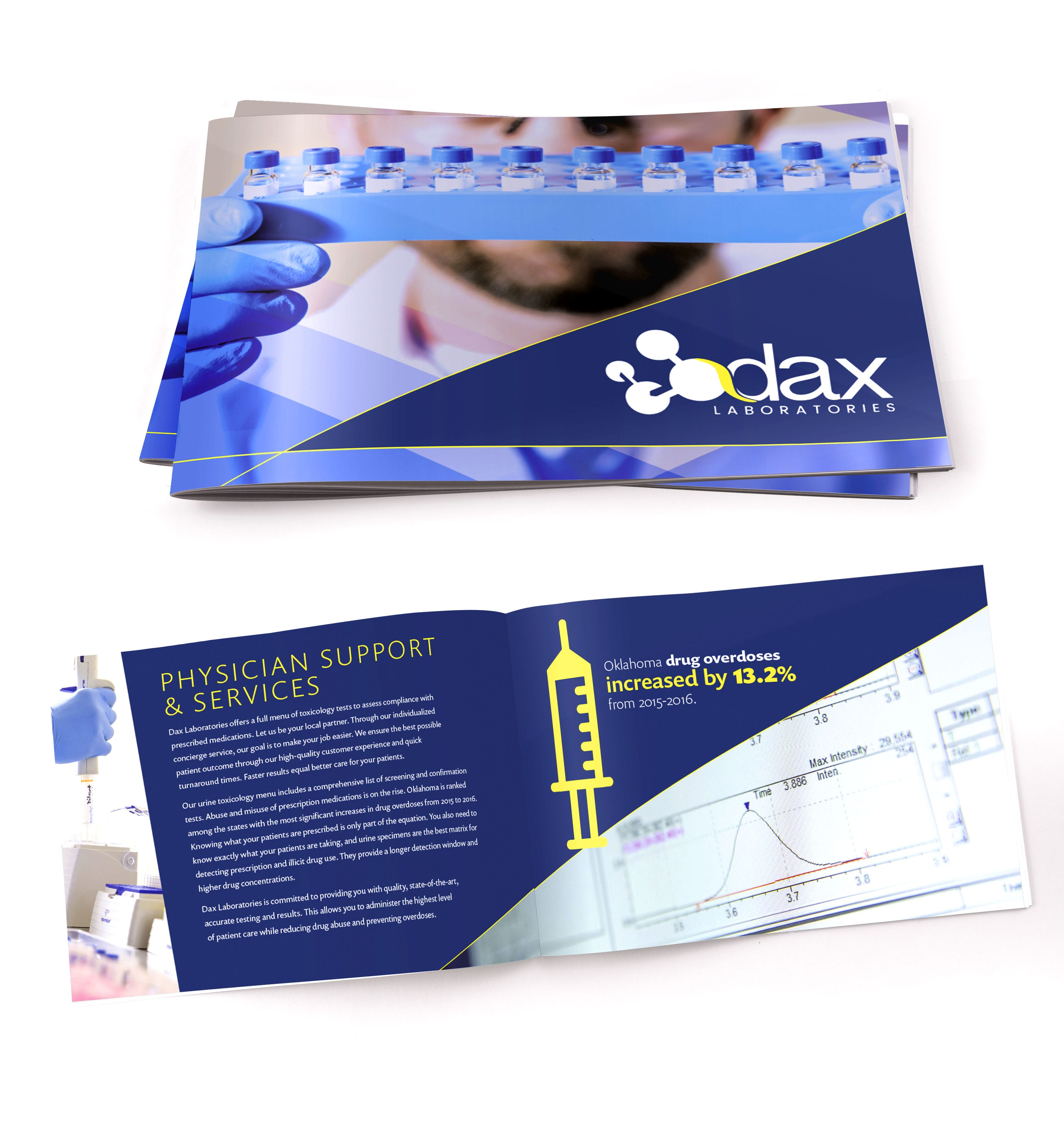 Dax Laboratories | Brochure Design by Liquid Media