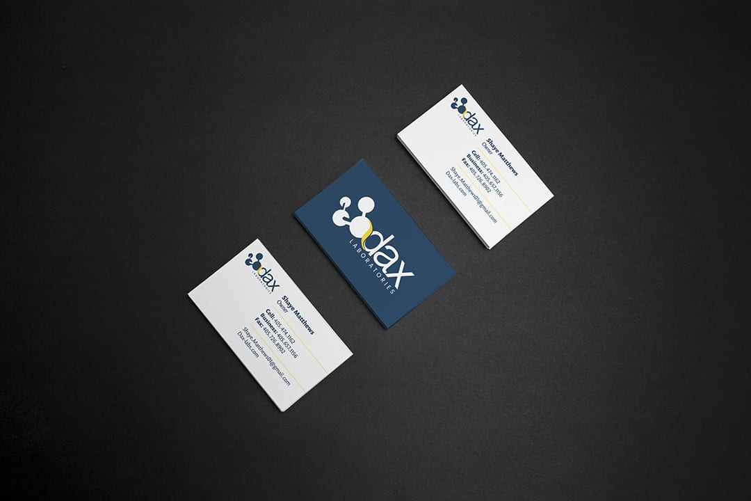 Dax Laboratories | Business Card Design by Liquid Media