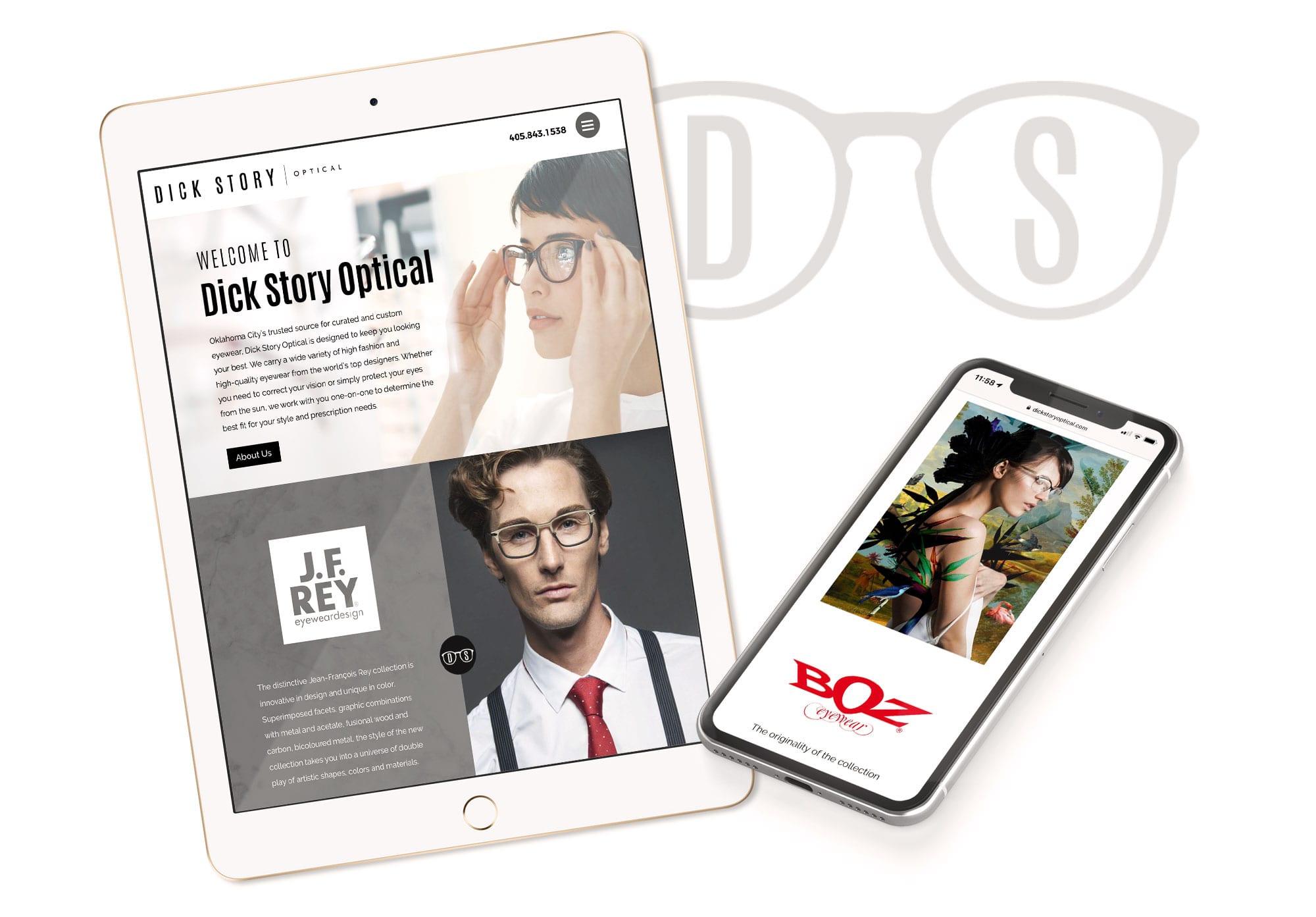 Dick Story Optical Website Design & Development by Liquid Media