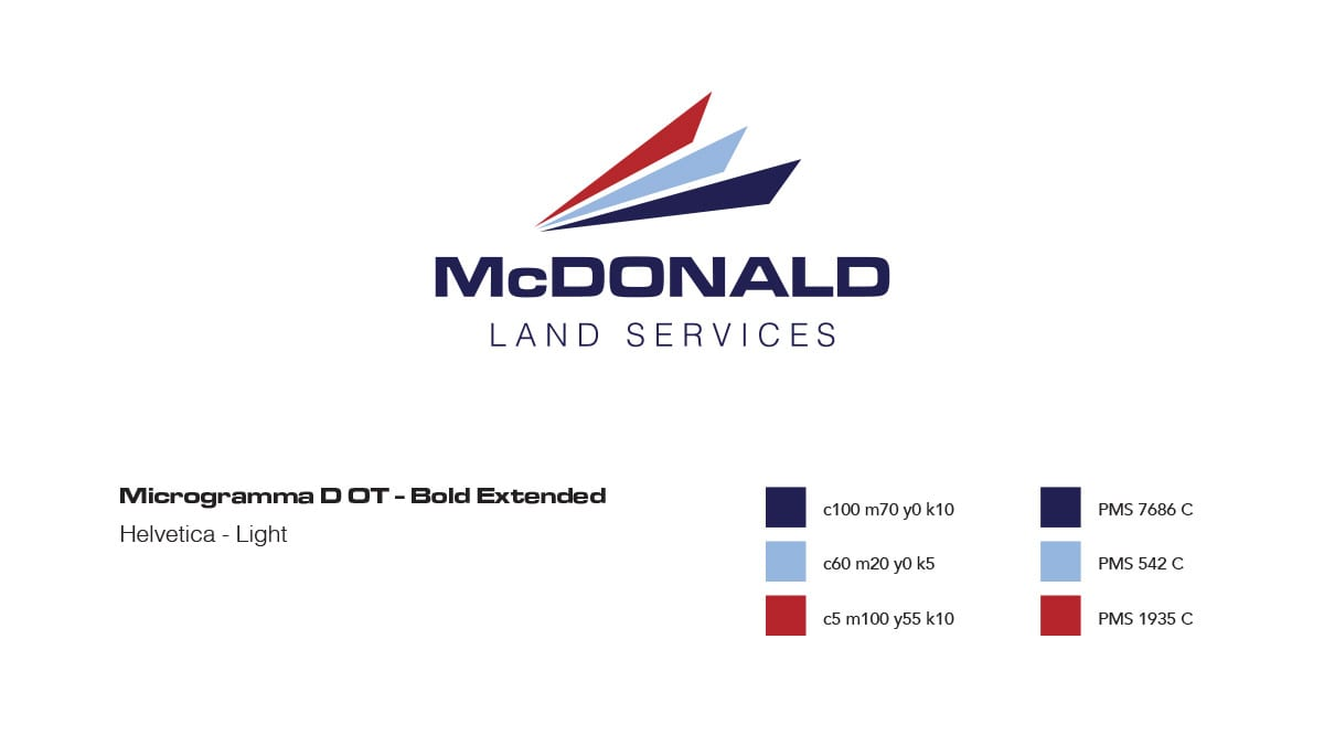 McDonald Land Services Logo Design by Liquid Media