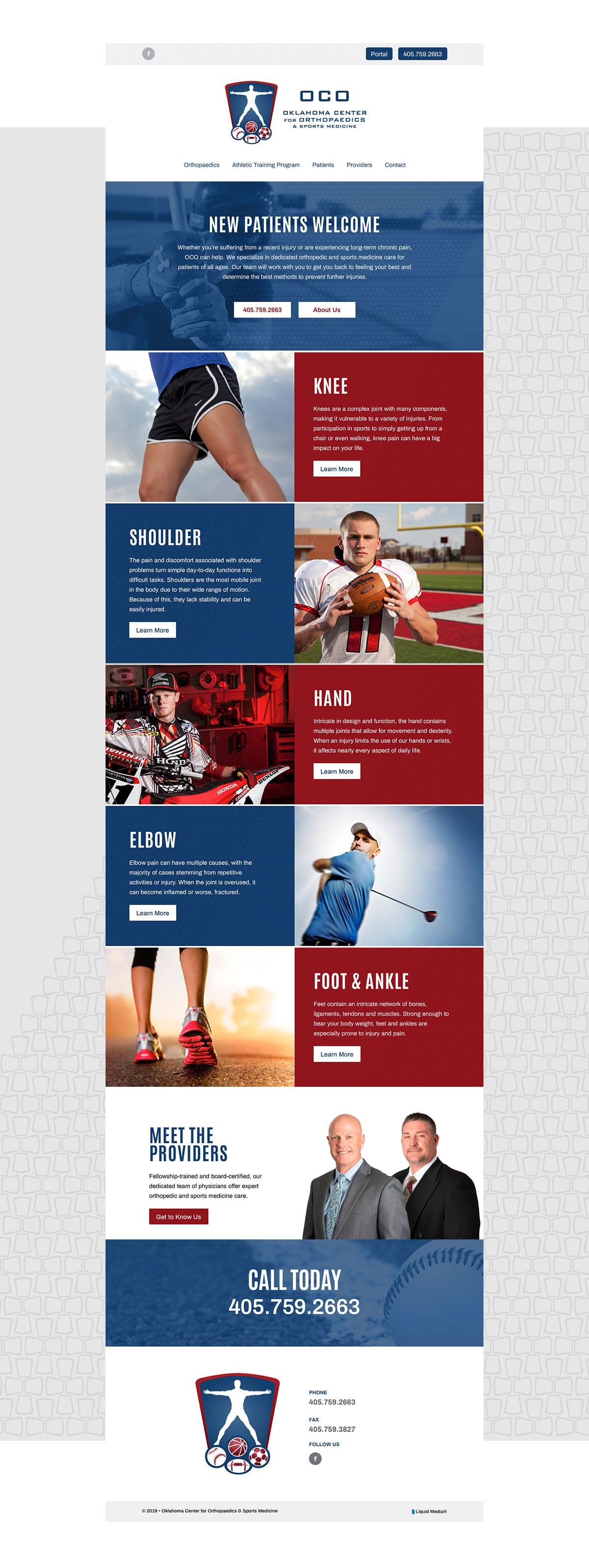 OCO Sports Website Development & Design by Liquid Media