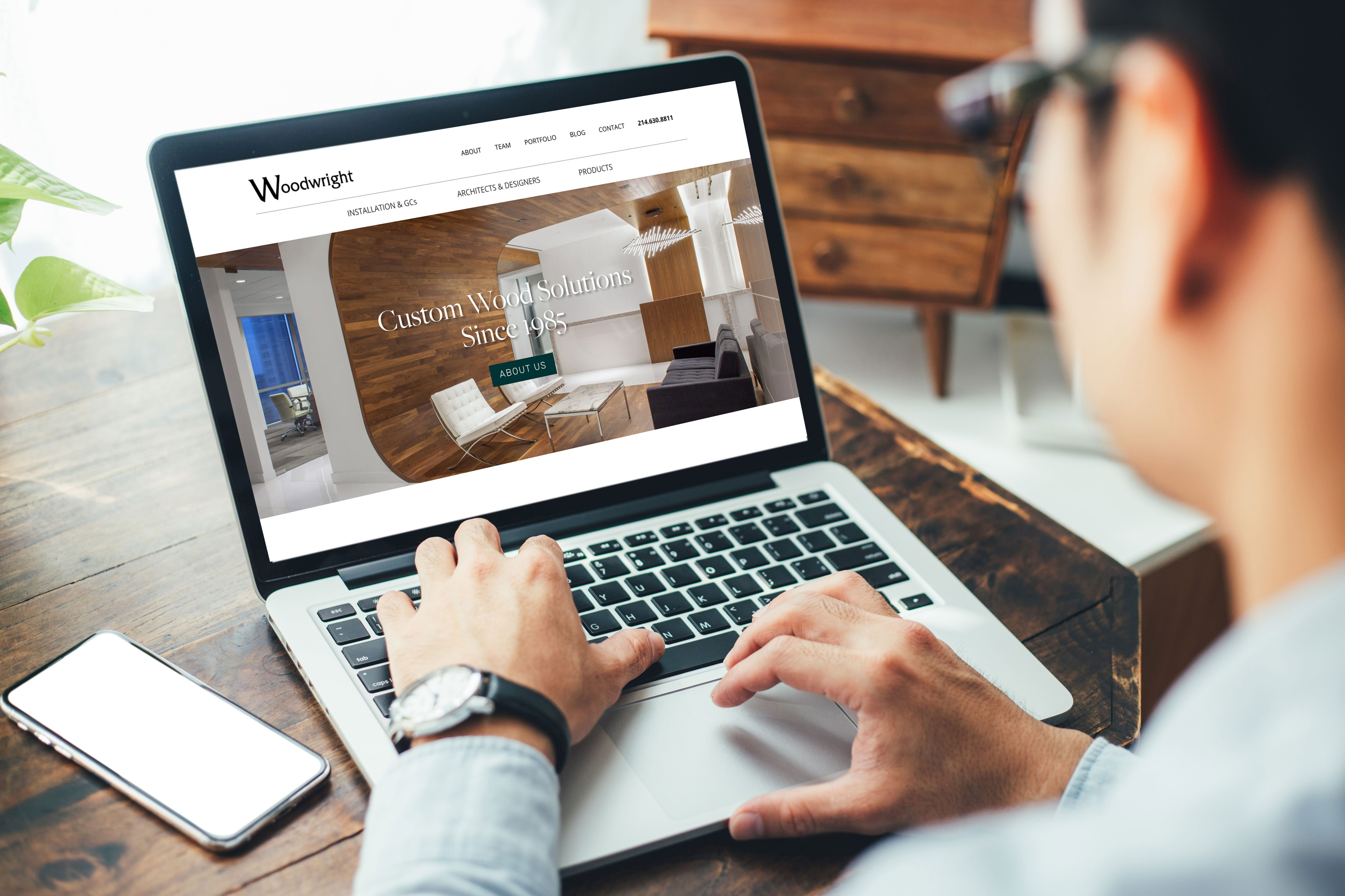Website Design for OKC and Dallas Company Woodwright by Liquid Media